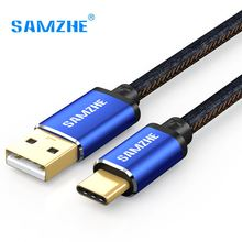 SAMZHE USB 2.0 USB Type C Cable Jeans Fabric 5V 2A Fast Charge Cable Denim Braided Phone Cable for Xiaomi Huawei Letv Samsung(China)