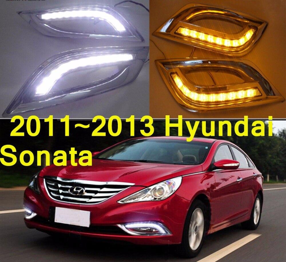 Car-styling,Sonata daytime light,2011~2014,chrome,LED,Free ship!2pcs,car-detector,Sonata fog light,car-covers,Sonata headlight<br>