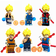 Dragon Ball Z Legoing фигурки Вегета Gotenks Son goten Legoing Dragon Ball строительные блоки игрушки для детей с Legoings(China)
