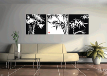 3 Pcs/Set Artist Canvas Still Life painting Bamboo vertical forms Canvas Prints Wall Pictures for Living Room Picture