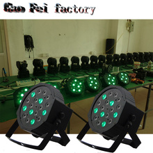 2pcs/lot 18 RGB LED Par Can Stage Light Disco DJ Bar Effect UP Sh dmx Club Party