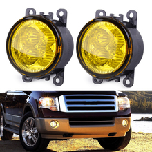 DWCX 2x Car Highlighted LED Fog Light Lamp with Yellow Lens 33900STKA11 XR837532 for Ford Focus Acura Honda Subaru Nissan Suzuki(China)