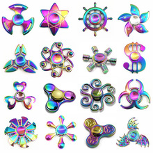Rainbow brass Hand Fidget Spinner Finger EDC Hand Spinner Tri For Kids Autism ADHD Anxiety Stress Relief Focus Handspinner Toys