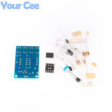5 pcs Blue Led 5MM Light LM358 Breathing Lamp Parts Kit Electronics DIY Interesting Product Suite Design(China)