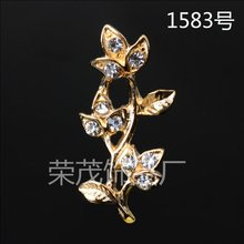 Buy 50Pcs 12*27MM Gold Color Crystal Leaf Charms Wholesale Brass Material DIY Jewelry Vintage Branch Leaf Pendant Charms for $13.22 in AliExpress store