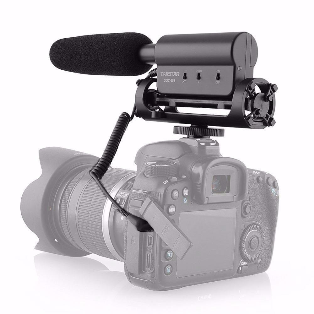 Takstar-SGC-598-Photography-Interview-Microphone-for-Youtube-Vlogging-Video-Shotgun-MIC-for-Nikon-Canon-DSLR