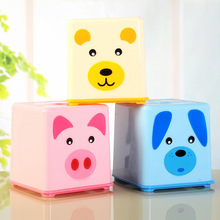 Tissue boxes roll paper holder creative cute bear shape toilet paper holder plastic standing tissue box(China)