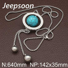 Buy Jeepsoon Fashion Stainless Steel Jewelry Woman 800mm Long Sweater Round Chain Necklace High Newest NEIHADBF for $4.21 in AliExpress store
