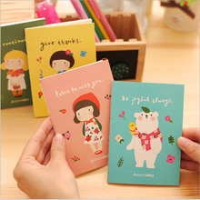 4pcs/lot 12*8.5 20sheets New Korean Stationery Cute Apron Girl Notepad Gracebell Girl Little Book Mini Notebook Student Prize