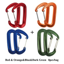 12KN Aluminum Hammock Buckle Carabiner Magnesium Alloy Quickdraw Quick Hanging Belts Hook Clasp Camping Equipment