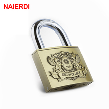 NAIERDI C6 Serie Super B Grade Brass Padlocks Anti-Theft Rustproof Travel Luggage Suitcase Gate Lock Security Padlock Hardware(China)