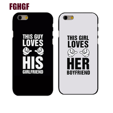 Lovers Boyfriend girlfriend Couple Phone Hard Case Cover For iphone 4s 5s 5c SE 6s 6plus 7 7plus 8 8plus(China)