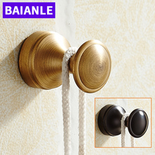 Wall Mounted Fashion Balck/Antique Brass Finished Bathroom Coat Clothes Single Robe Hook Kitchen Hanger bathroom Accessories(China)