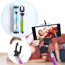 Buy Universal Self Selfie Stick Monopod iPhone 6 Plus Palo Selfie Remote Camera Suporte Wire Para Selfie Samsung Android IOS for $2.73 in AliExpress store
