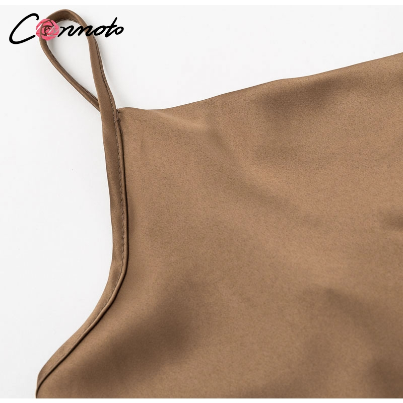 Club Satin Women's Solid Camis Top, Spaghetti Strap, Backless Solid Sexy Casual Basic Top 21