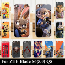 High Quality Transpatent Hard Plastic Color Paint Painting Case For ZTE Blade S6(5.0) Q5 Mobile Phone Cover Case