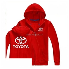 Autumn and winter Toyota sweatshirt 4S shop sales staff work clothes garments factory zipper Hooded coat