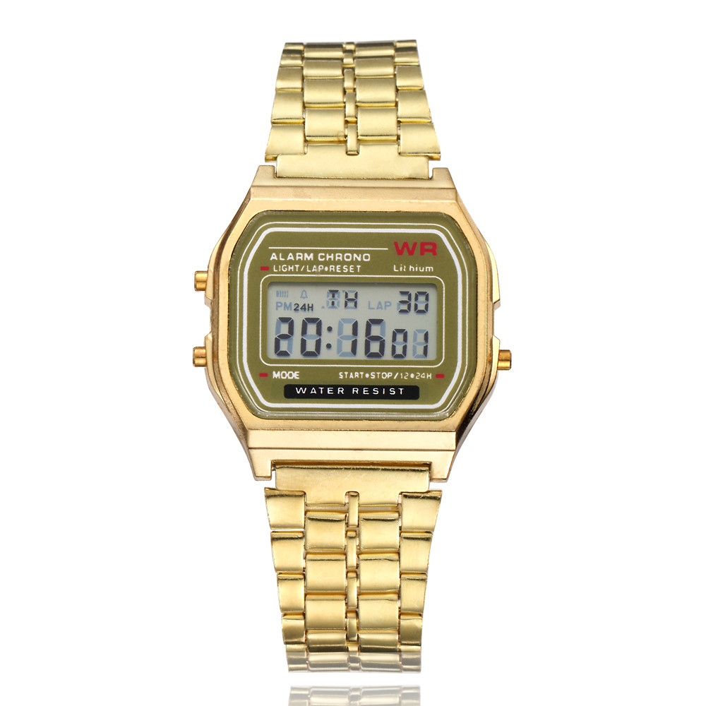 Gold Silver Women Men Watch Led Digital Watches Square Women`s Dress Sports Watches Clock Ladies Gold hodinky relogios feminino