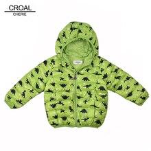CROAL CHERIE 80-130cm Kawaii Dinosaur Children Boys Clothes Kids Girls Winter jackets Coats Parkas Infant Baby Outerwear