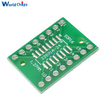 10Pcs SOP16 SSOP16 TSSOP16 To DIP DIP16 0.65/1.27mm IC Adapter PCB Board(China)