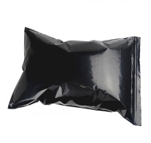 Free Shipping by UPS Size:40*60cm 16C thick bigs Ziplock Poly Plastic Zipper Bags black 10pcs/lot(China)