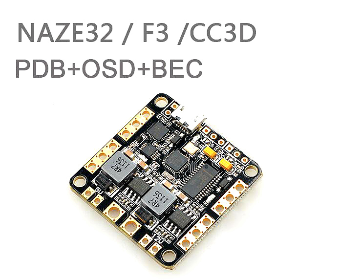 Naze32 F3 CC3D distributor plate integrated OSD BEC BEC-way through the machine PDB simplify wiring<br><br>Aliexpress