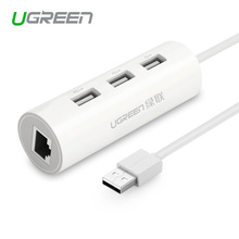 Ugreen USB 2.0 Network Hub Ethernet RJ45 lan network card  USB to Ethernet Adapter for Mac iOS Android PC Network Cards