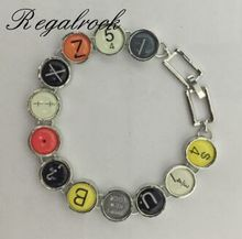 Regalrock Hot Fashion Typewriter Punctuation Key Bracelet(China)