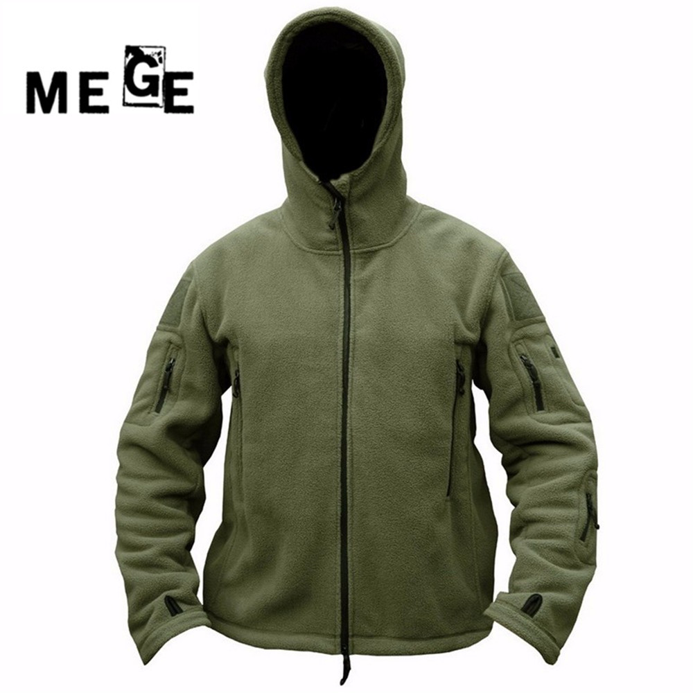 MEGE Men Outdoor Winter Fleece Hooded Jacket,  Thermal Breathable US Army Military Outwears for Men Women Camping Hiking<br>