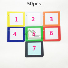50pcs Color Screen Protector for Gameboy Pocket for GBP Game Console Screen Lens Cover with Light Lamp
