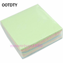 OOTDTY 100Pcs/Set Microfiber Phone Screen Camera Lens Glasses Square Cleaner Cleaning Cloth HXP001(China)