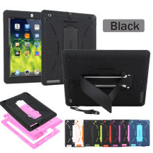 Heavy Duty Case Shock Proof Antiskip Kick Stand Silicon Hard Case for Apple iPad 2/3(China)
