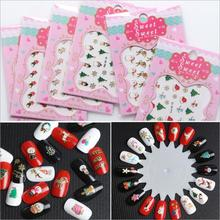 BELESHINY 1psc nail art Stickers 3d Beauty Sticker for Nails snowflake Nail Art Charms Manicure Decal Decorations(China)