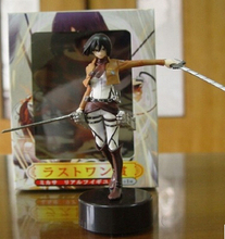 "Anime Attack on Titan Figma Mikasa Ackerman 6"" PVC Action Figure Collectible Model Toy With Box Y6251(China)"
