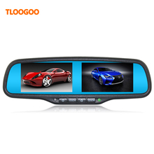 Dual screen car monitor OEM Mirror monitor 4.3inch  brightness adjustment 4AV input Universal