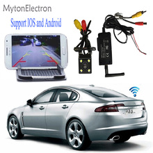 WIFI Transmitter Signal Repeater + LED Night Vision quality CCD Car Rear View Camera Support for IOS Android phone pad monitor