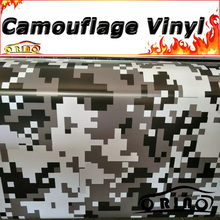 Black Gray White Digital Camouflage Wrap Vinyl Truck Vehicle Pixel Camouflage Wrapping Sticker Film Covers Matte/Glossy Finish
