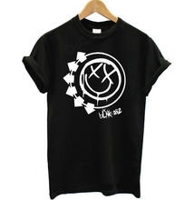 Women Tshirt Harajuku BLINK 182 Rock Band Letters Print Funny Cotton Shirt For Lady Top Tee Hipster Whtie Black BZ20-206(China)