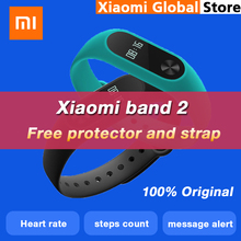 Original Xiaomi Band 2 Smart Wristband Bluetooth 4.0 Xiaomi mi band 2 Bracelet OLED Touch Screen Heart Rate Fitness Tracker IP67(China)