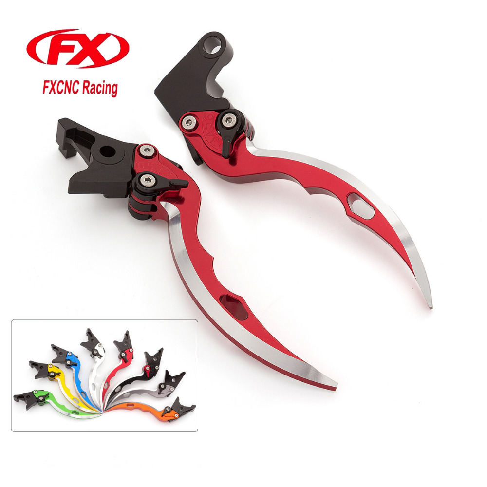 FX Aluminum Blade Knife Motorcycle Brake Clutch Levers For Yamaha YZF R1 YZFR1 2004 2005 2006 2007 2008 Motorbike Brake Lever<br>
