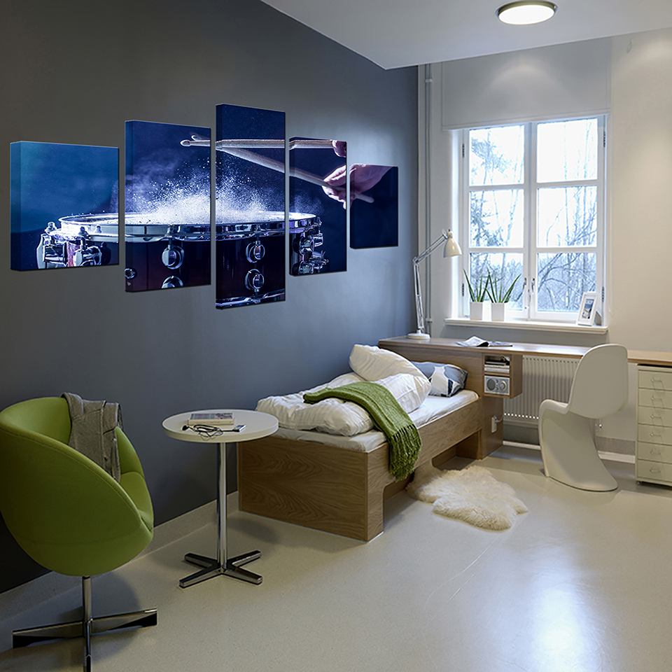 Wall-Art-Canvas-Paintings-Modular-Home-Decor-HD-Prints-5-Pieces-Drums-Pictures-Musical-Instruments-Posters (3)