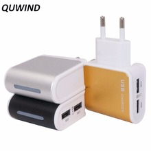 QUWIND S-D09 Dual USB Wall Charger 2 Ports 5V 2.4A 1.0A Travel Charging For iPhone 5 6 7 Samsung HuaWei