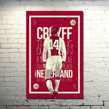 Johan Cruyff Football Legend Art Silk Poster Print 13x20 24x36 inch Netherlands Soccer Star Pictures for Living Room Decor 007