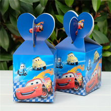 6pcs/lot Cars Favor Box Candy Box Gift Box Cupcake Box Kids Birthday Party Supplies Decoration Event Party Supplies