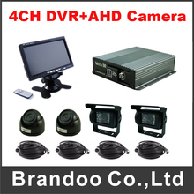 720P 4 Channel Mobile DVR Kit Including AHD Camera Car DVR For Truck