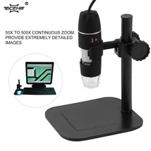 ACEHE Digital USB Microscope 50X~500X Electronic Microscope 5MP USB 8 LED Digital Camera Microscope Endoscope Magnifier(China)