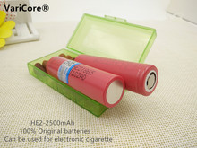 2PCS Original 18650 3.7V 2500mAh Battery Power 35A Download For LG HE2 Rechargeable Batteries ICR18650+1PCS battery box
