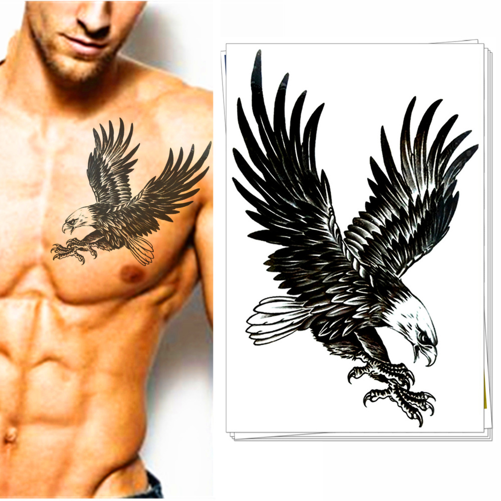 American eagle tattoos high quality photos and flash - Airforce Top Gun Eagle Temporary Tattoos Body Art Flash Tatoos Stickers Stickers 12 20cm Army