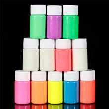1PC 20ml 12 Colors Neon Fluorescent Body Paint Grow In The Dark Halloween Party Make Up Face Painting Luminous Acrylic Paints