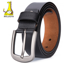 [MILUOTA] 2017 Fashion Designer Belts Men High Quality PU Leather Men Belt Brand Pin Buckle cinturones hombre MU101